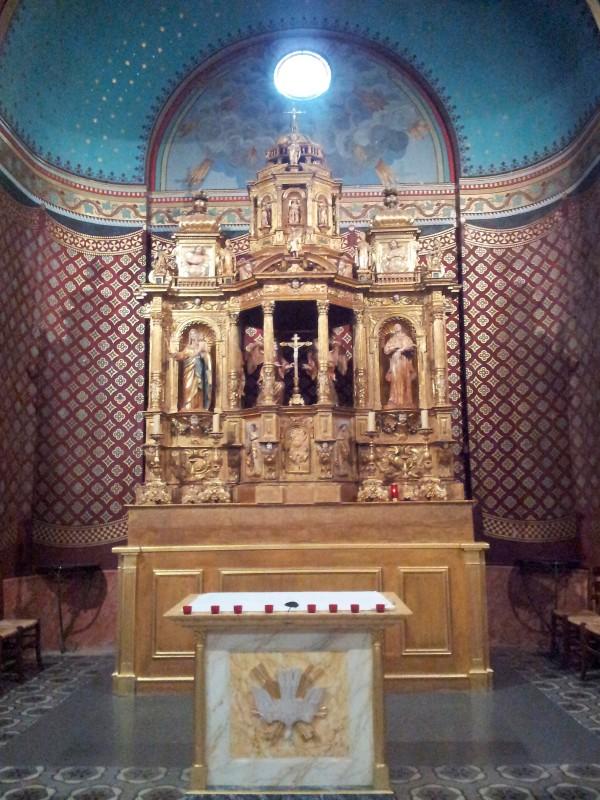 retable double face de l'église de Roquettes