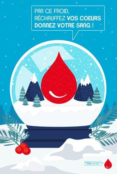 affiche pour le don de sang