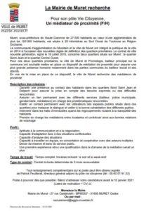 offre d'emploi mediateur de proximité à Muret