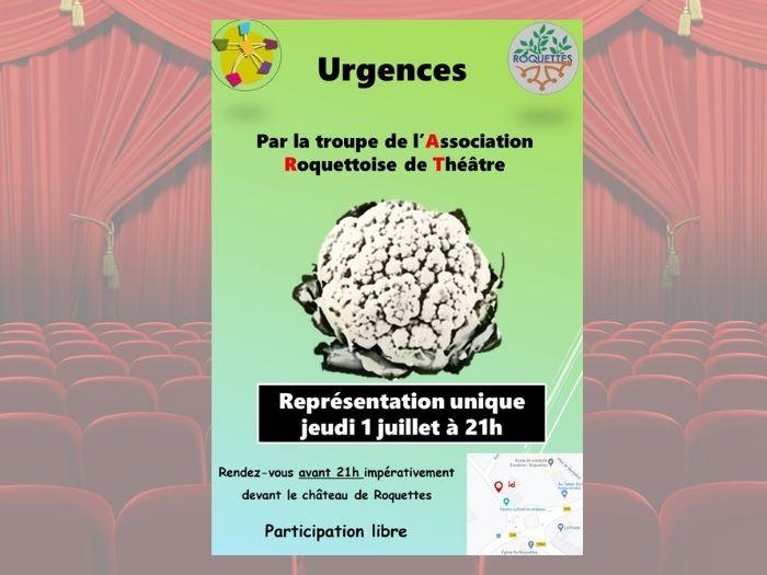 """[ART] Représentation Théâtrale, """"Urgences"""""""